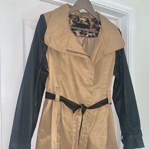 Black and Tan Trench Coat